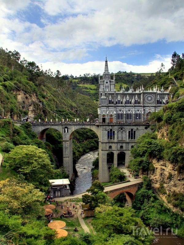 Собор Лас-Лахас - символ мира между эквадорским и колумбийским народами / Колумбия