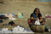 Процесс стирки / Индия