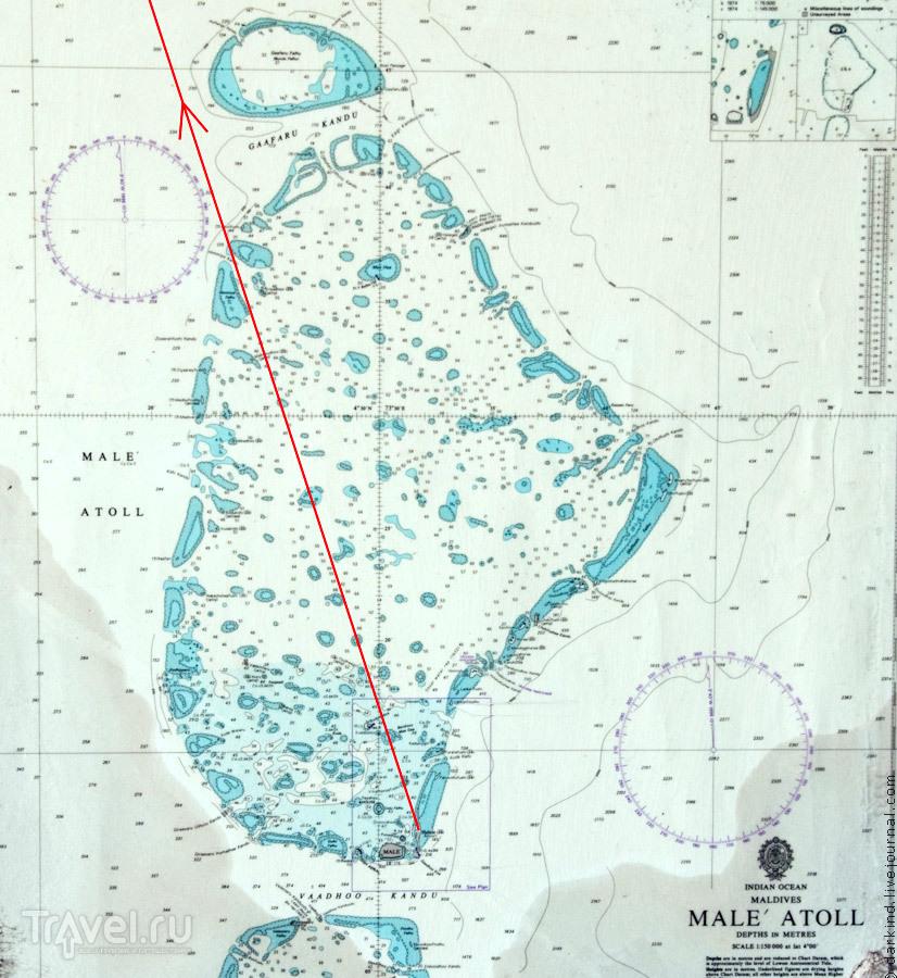 Карта северного Мале атолла / Фото с Мальдив