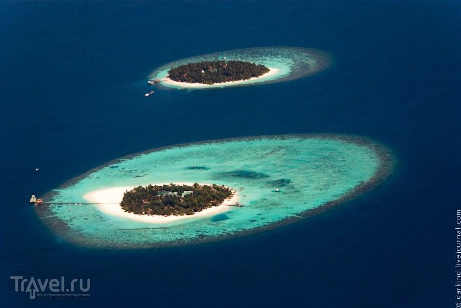 Рифы внутри лагуны / Фото с Мальдив