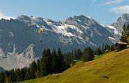 Параплан в горах / Швейцария