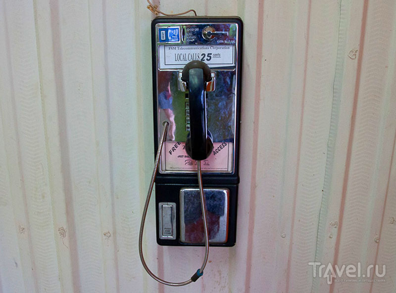 Телефон-автомат в Колониа, Микронезия / Фото из Микронезии