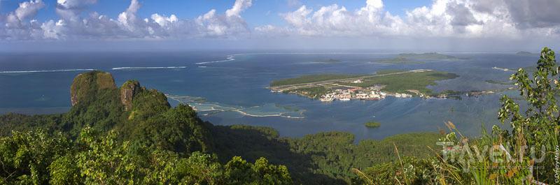 Вид на аэропорт штата Понпеи, Микронезия / Фото из Микронезии