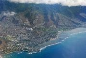 Вид на город Гонолулу / США