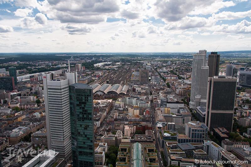 Вид на центральный вокзал / Германия