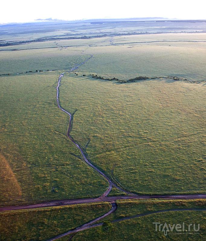 Над национальным парком Масаи-Мара, Кения / Фото из Кении