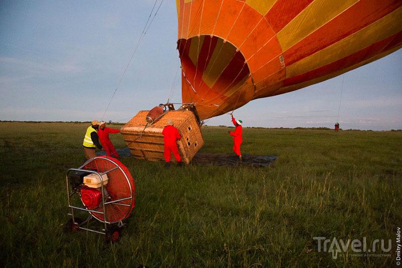Запуск воздушного шара в национальном парке Масаи-Мара, Кения / Фото из Кении