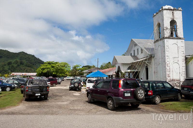 Церковь на острове Косрае, Микронезия / Фото из Микронезии