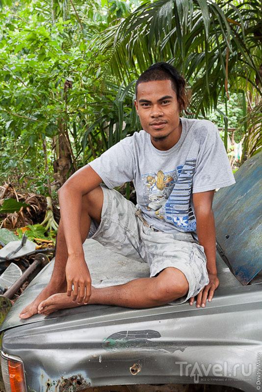 Молодой человек с острова Косрае, Микронезия / Фото из Микронезии