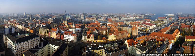 Панорама Копенгагена / Дания
