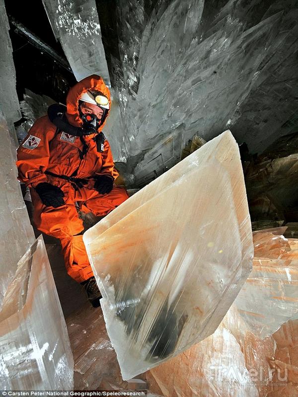 Пещера с огромными кристаллами в Мексике