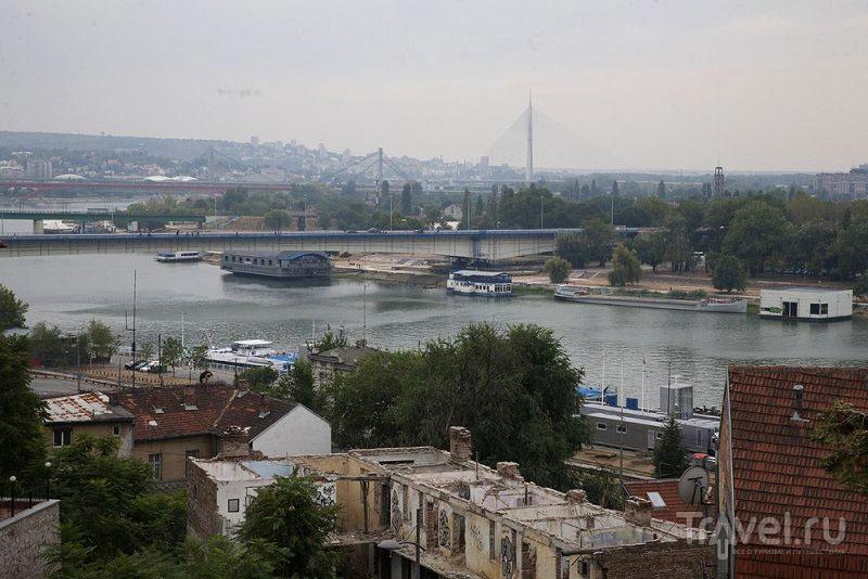 Вид на реку в Белграде, Сербия / Фото из Черногории