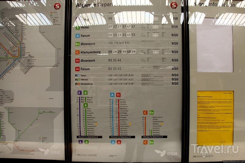 Расписание поездов и справочная информация / Дания