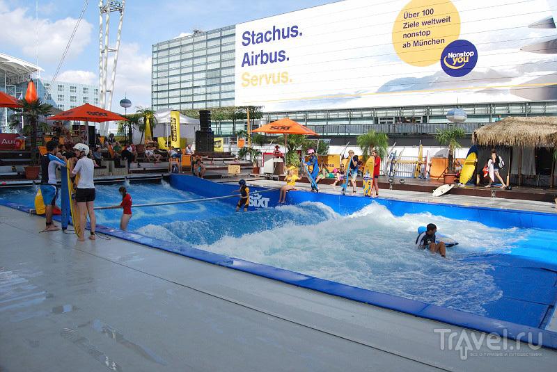 Посерфить в аэропорту Мюнхена можно совершенно бесплатно / Фото из Германии