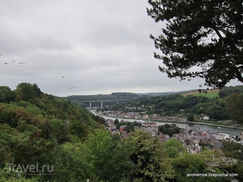 Вид на город с горы / Бельгия
