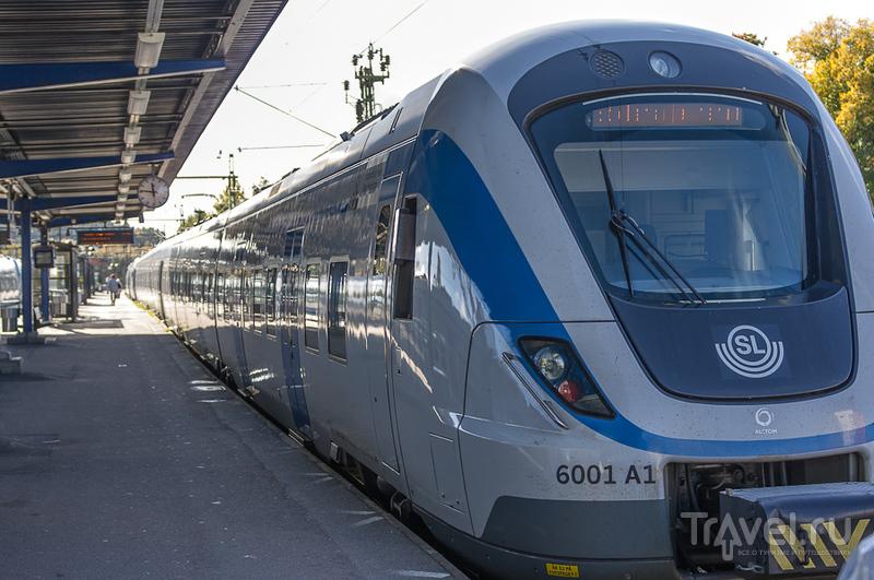 Поезд в центр Стокгольма / Швеция
