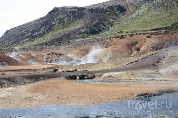 Дымы, которые валили из склона / Исландия