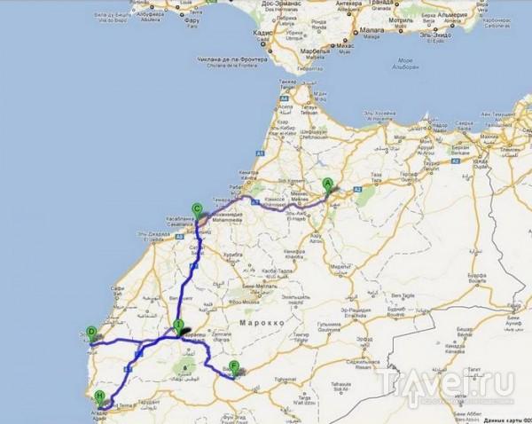 Маршрут на карте / Марокко