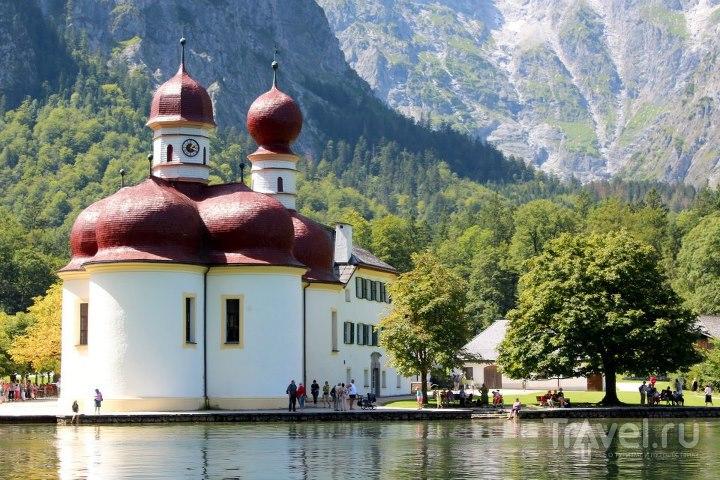 Вид с озера / Австрия