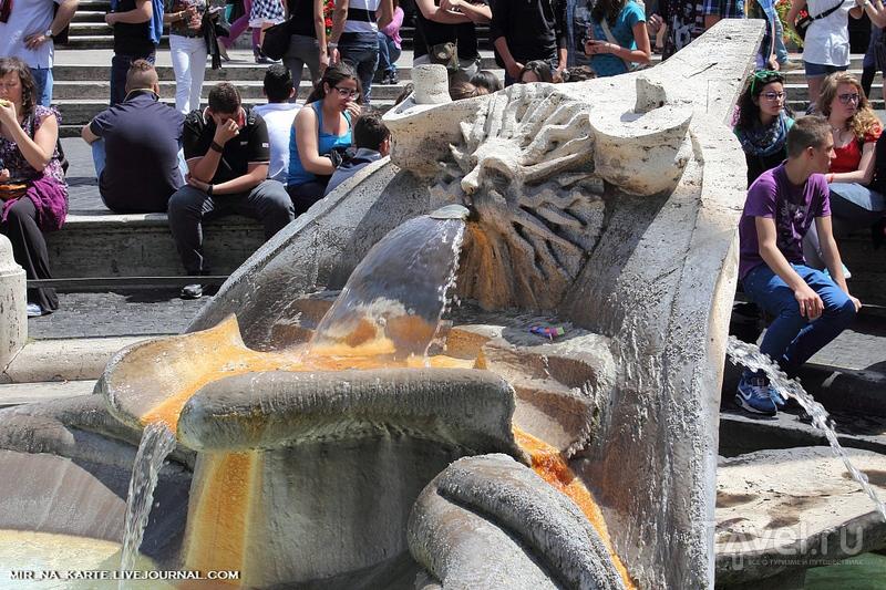 Рим. Испанская лестница и фонтан Треви / Италия