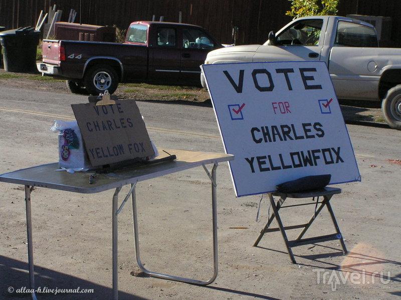 Выборы в индейской резервации / США