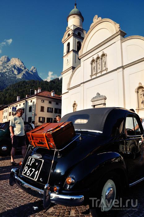 Слёт старинных Фиатов в Доломитовых Альпах / Италия
