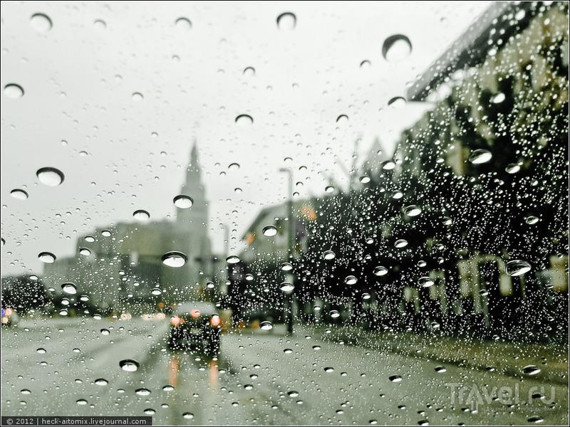 Вокруг великого озера Эри. Дождь в Кливленде, курс на Детройт / США