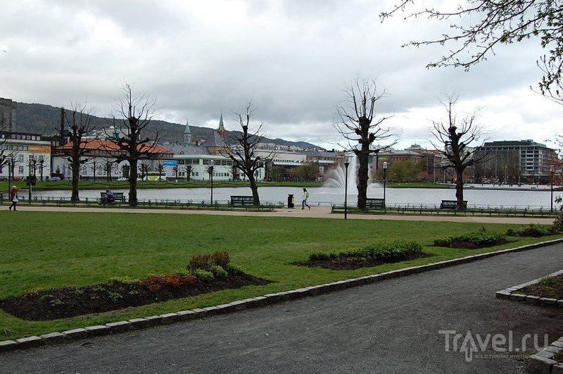 Берген: от вокзала до Vestre torggate / Фото из Норвегии