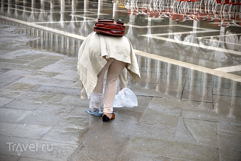 Венеция после сильного наводнения / Италия