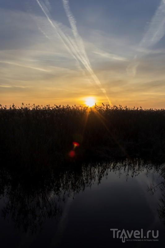 Астраханская область: рассвет в середине ноября / Россия