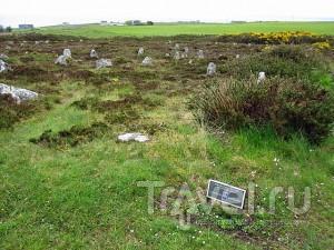 Холм множества камней в Шотландии / Великобритания