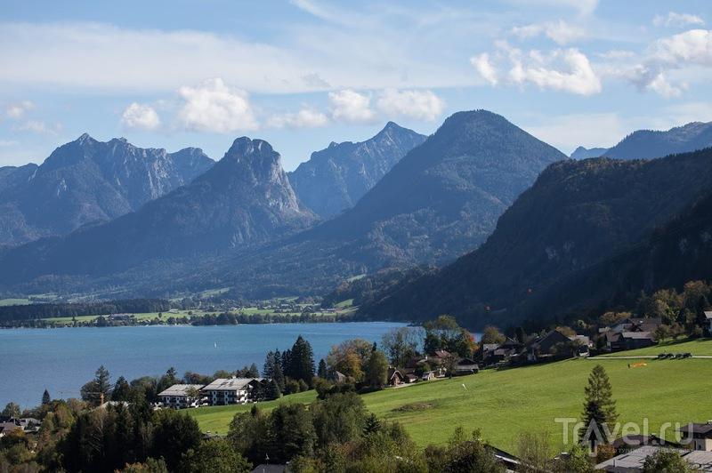 Гора Шафберг над озером Вольфгангзе, Австрия / Фото из Австрии