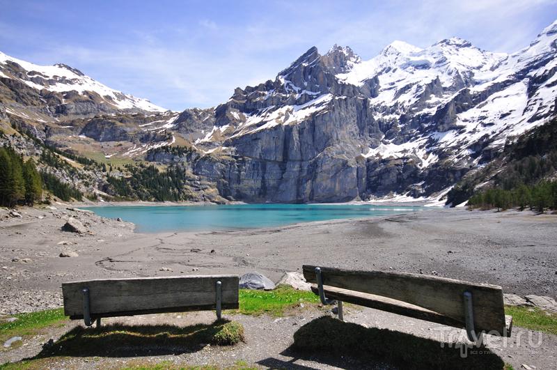 Картинки из Швейцарии. Вверх на Oeschinensee / Швейцария