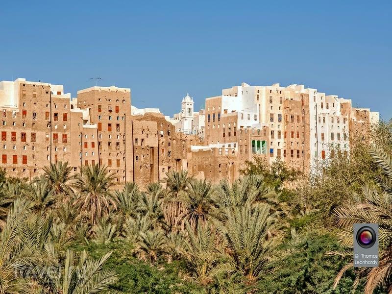 В Шибаме построено более пяти сотен многоэтажных глиняных зданий, Йемен / Йемен