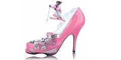 Розовая туфелька - символ скидок для женщин. // lovevda.it