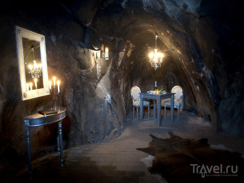 Номер The Mine Suite, расположенный на глубине 155 метров, был оборудован в 2006 году, Швеция / Швеция