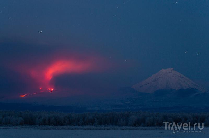Лавовый поток и вулкан Большая Удина / Фото из России