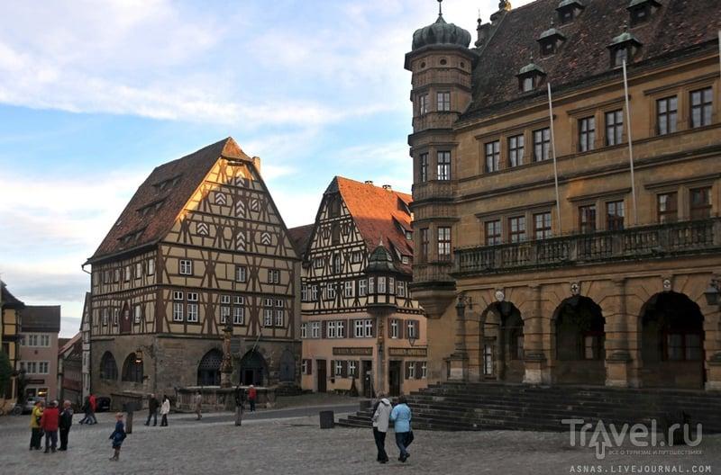 Рыночная площадь в Ротенбурге-на-Таубере / Фото из Германии
