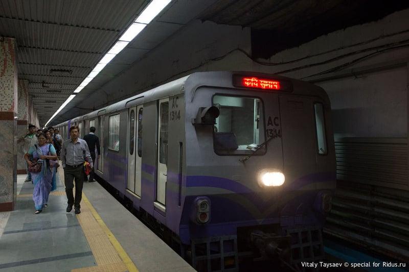 Калькуттский метрополитен / Фото из Индии