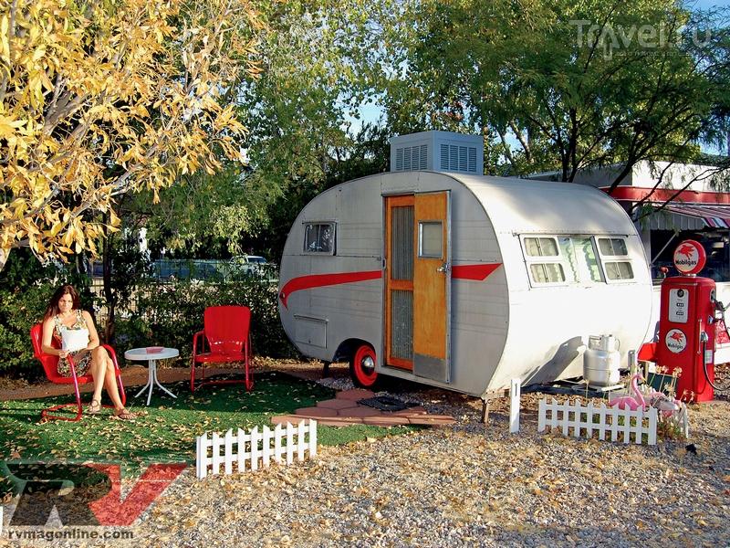 На территории The Shady Dell можно почувствовать атмосферу путешествующей Америки пятидесятых / США
