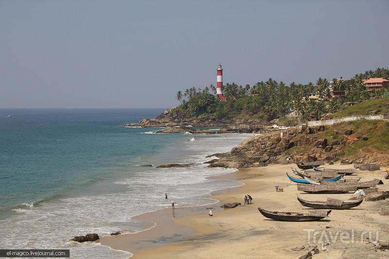 Маяк в Коваламе, Индия / Фото из Индии