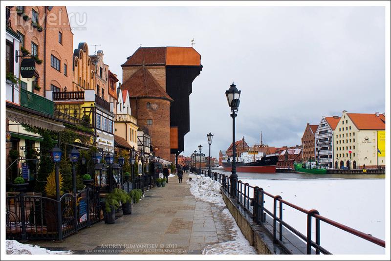 Портовой кран Журав в Гданьске / Фото из Польши