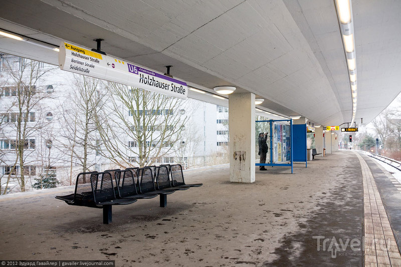 Станция метро Holzhauser Straße (Хольцхаузер-Штрассе), Берлин / Фото из Германии