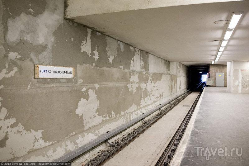 Станция метро Kurt-Schumacher-Platz (Курт-Шумахер-Платц), Берлин / Фото из Германии