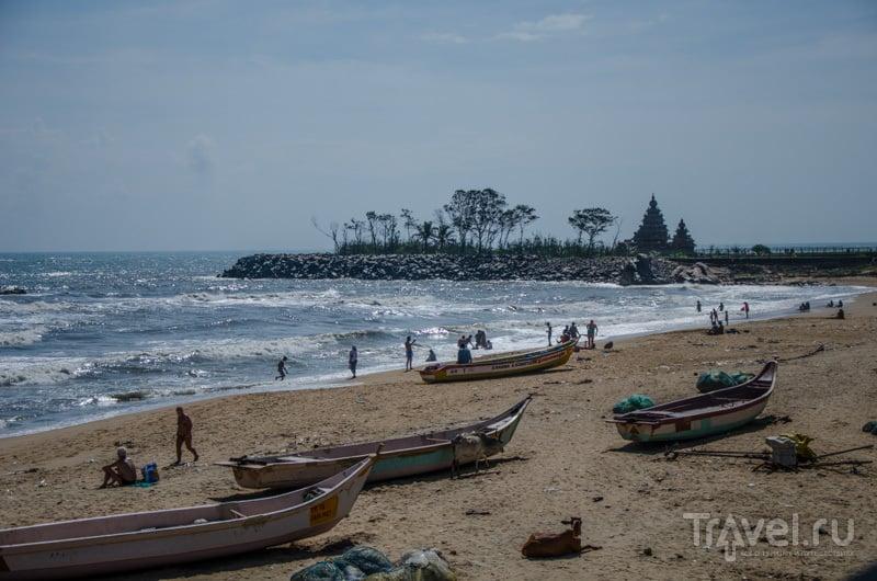 Лодки и Shore Temple, Махабалипурам / Фото из Индии