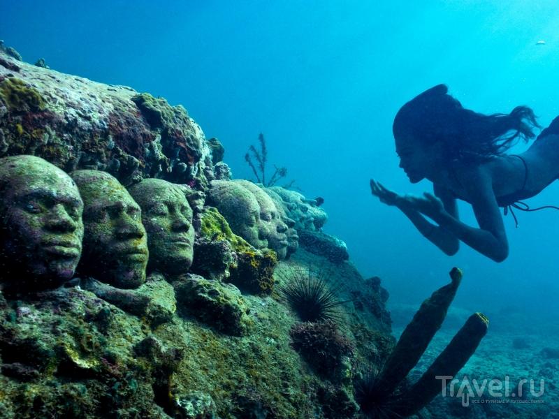 Скульптуры расположены на площади 800 квадратных метров, на глубине около 3 метров / Гренада
