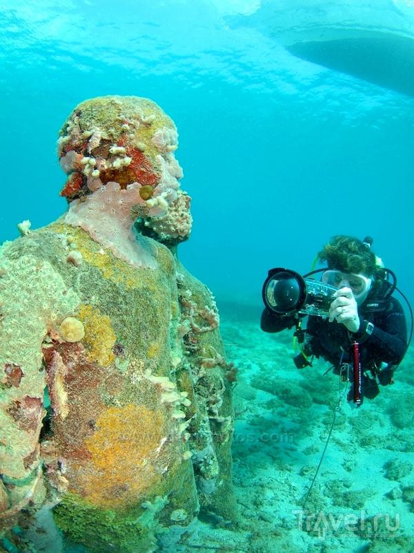 Под водой можно увидеть 65 скульптур разнообразных размеров и форм, Гренада / Гренада