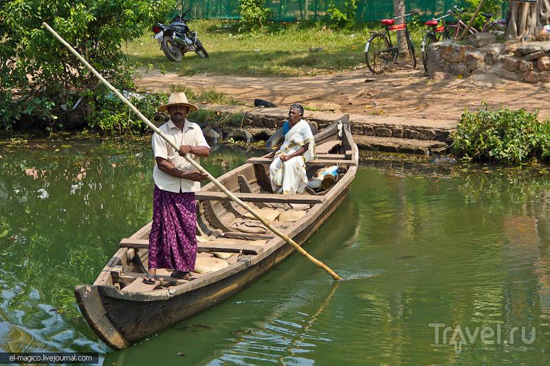 Заводи Кералы - жизнь у реки / Фото из Индии