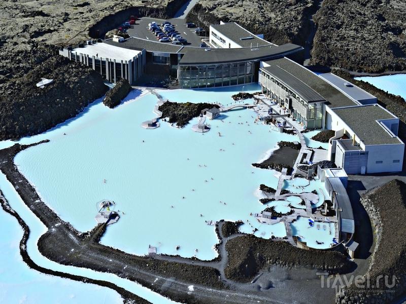 Территория геотермального комплекса Blue Lagoon на юго-западе Исландии / Исландия