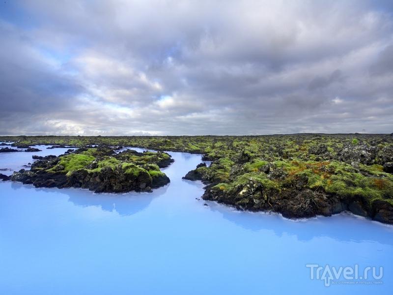 Геотермальный курорт Blue Lagoon образован вокруг естественного комплекса бассейнов, Исландия / Исландия